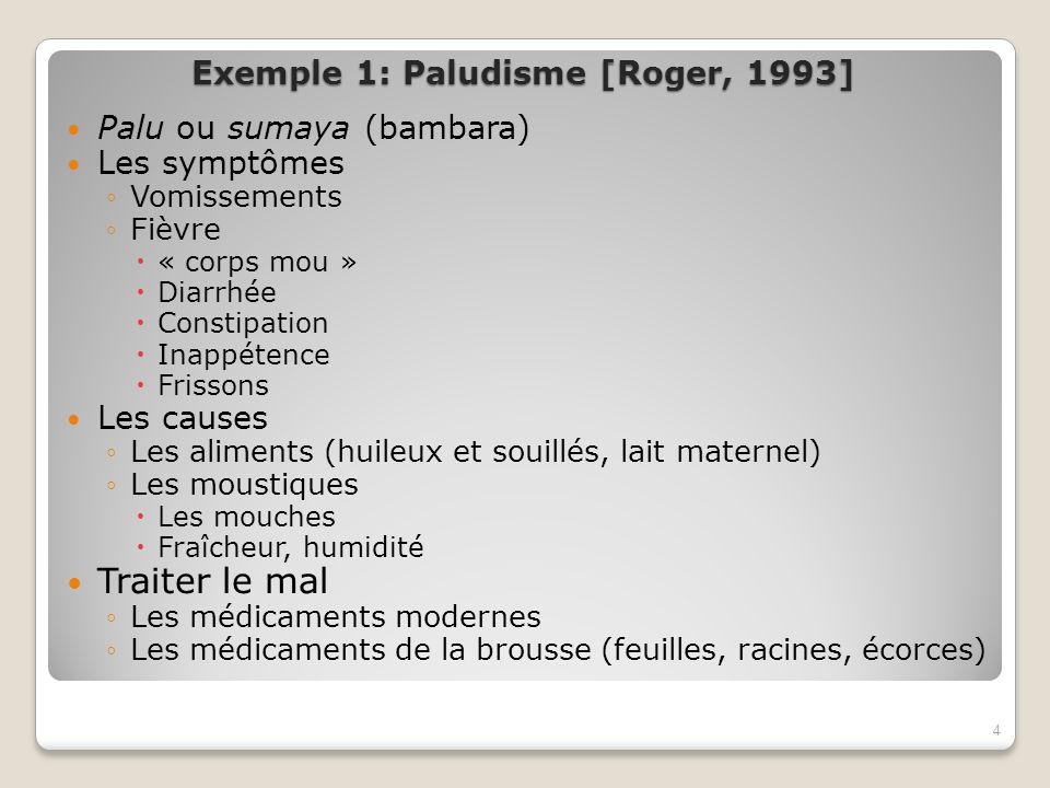 Exemple 1: Paludisme [Roger, 1993]
